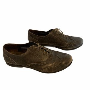 Born Oxfords Brogue Leather Shoes Size 7